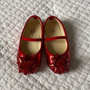 Red  bow Mary Janes